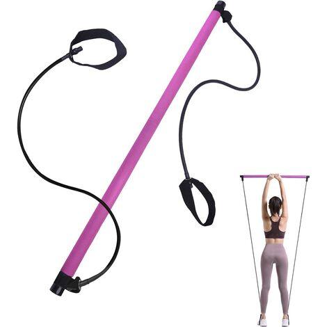 Barre de Pilates Portable,Bande de Résistance,Appareil d'entraînement,Tendeur de Musculation Muscles pour étirement, Façonner et Perdre du Poids Barre d'exercice