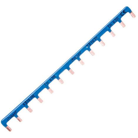 Barre de pontage - 1P 63A - Languette 10mm² - Bleu - 13 M - Hager