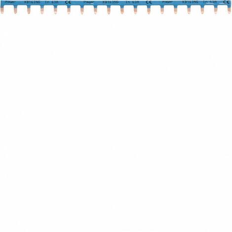 Barre de pontage 1P 63A languette 10mm² bleu 18M (KB163NG)