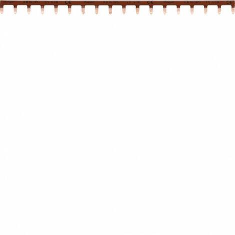 Barre de pontage 1P 63A languette 10mm² marron 18M (KB163PG)