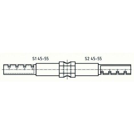 Barre de prolongement ABUS pour cylindre double 45-55/45-55 - 50MXS14