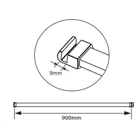 Barre de refort AICA sanitaire barre de fixation barre de horizontal chromé