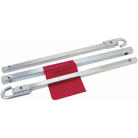 Barre de remorquage Charge utile 1.8 tonnes Enclenchement Automatique Sans Outils Acier Galvanisé X 2 outils atelier bricolage - Or