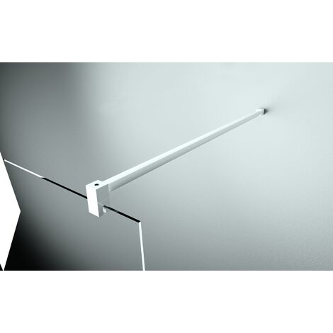 Barre de renfort 150 cm pour verre 6 et 8 mm - Finition profilé : BLANC