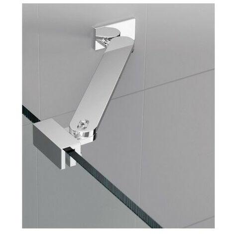 Barre de renfort d'angle pour paroi de douche fixe