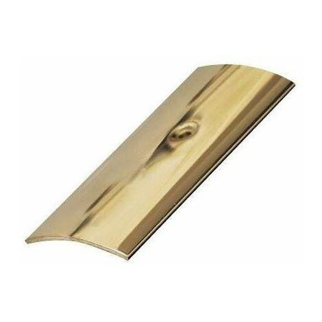 Barre de seuil percée acier laiton 4.5x93CM
