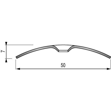 BARRE DE SEUIL PLAT - INOX BRILLANT - 2M70 - A VISSER - DINAC