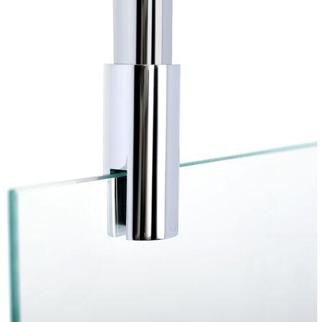 Barre de stabilisation au plafond pour paroi de douche 5-8 mm, 80 cm à raccourcir, barre de fixation universelle Schulte, aspect chromé - Aspect chromé
