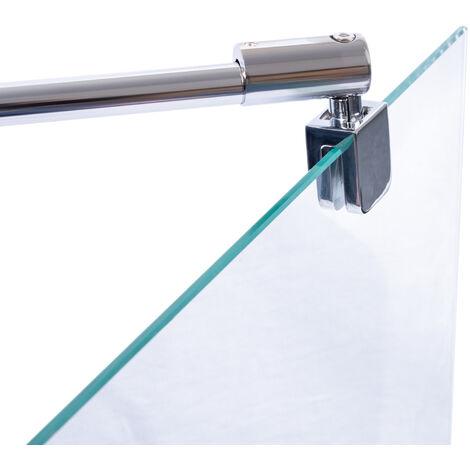 Barre de stabilisation murale pour paroi de douche 5-8 mm, barre de fixation universelle à raccourir Schulte, coloris aux choix