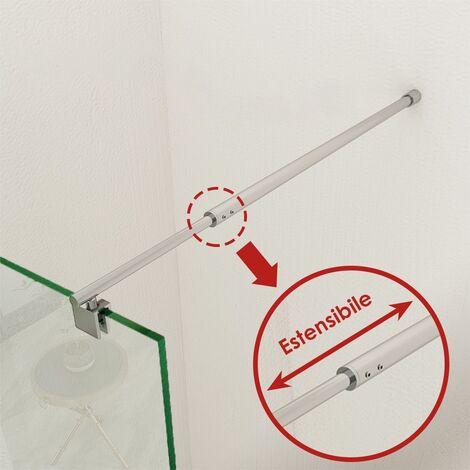 """main image of """"Barre de stabilisation réglable 700-1200 mm pour paroi de verre en acier inoxydable - chromé poli SIRHONA"""""""