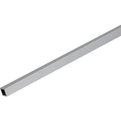 Barre de stabilisation, tube d'angle anodisée brillant, longueur 2000mm 15 x 15 mm