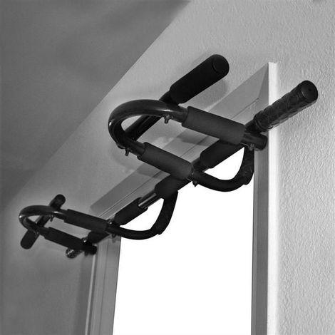 Barre de Traction, Barre de Fitness, Crochet pour un Montage sur Porte, Matériau: Mousse Haute Densité, Acier Inoxydable