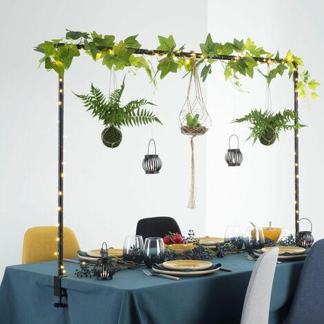 Barre déco table extérieur - Noir