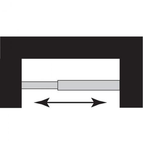 Barre droite extensible en aluminium