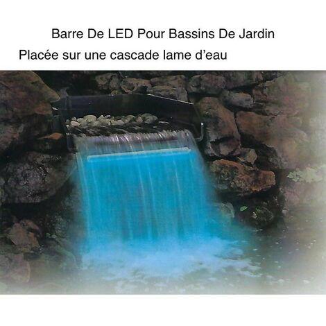 Barre Éclairage LED 60 cm Pour Bassins Et Cascades De Jardin. Étanche