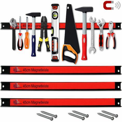 Barre magnétique pour outils 60 cm 23km charge max - Outils garage atelier 3er Set 45cm (de)