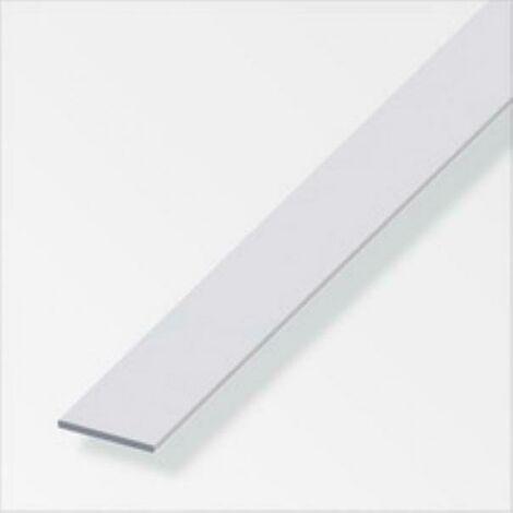 Barre plate de 2mt en aluminium couleur argent 05013