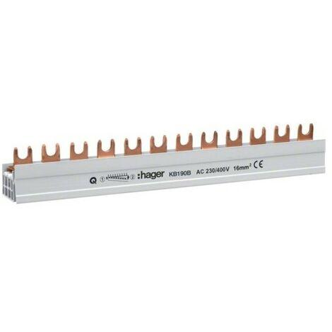 Barre pont 1P lang 20mm² 57m - CONNEXION HAGER KB190B