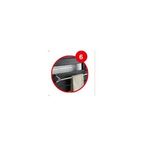 Barre Support A Embout Blanc pour seche-serviettes lames plates ADELIS NEFERTTITI NEFERTITI etroit ATLANTIC 850223