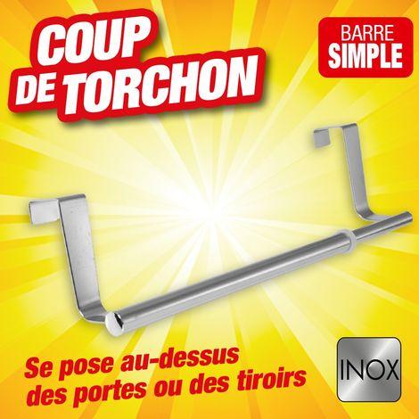 BARRE TORCHONS EN INOX POUR TIROIRS ET PORTES