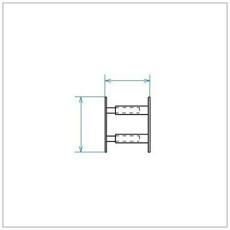 Barreau Télescopique - 2 Barreaux 30 À 55cm - Blanc