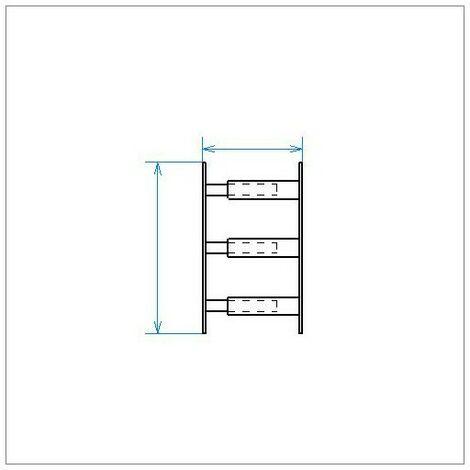 Barreau Télescopique - 3 Barreaux 30 À 55cm - Noir