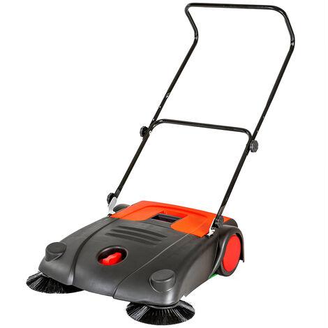 """main image of """"Barredora 20L - máquina barredora de metal, máquina de limpieza para casa con recipiente, barredora para recoger suciedad - negro"""""""