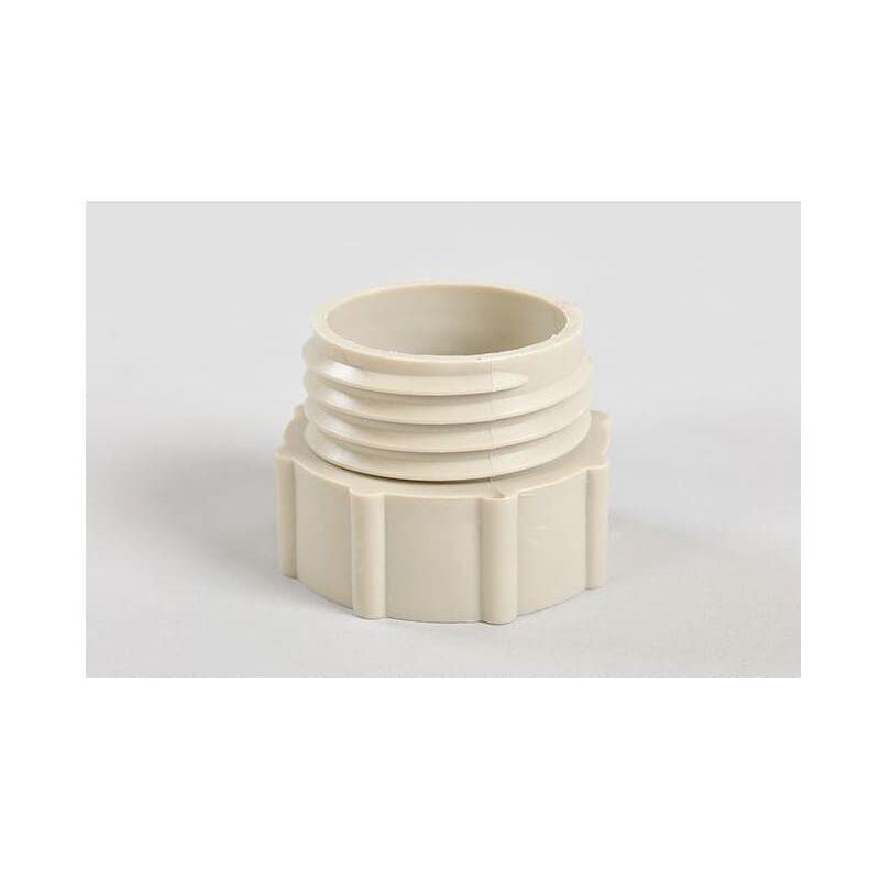 Image of Barrel Adaptor 2' BSP - Plastic Drum DIN61 M/F Grey - Hartle Ige