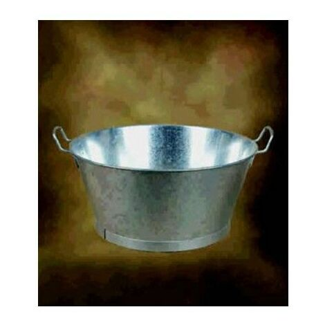 "main image of ""Barreño Agua 20"" Redondo M.Soler Metal Galvanizado Con Asa 01110020"""