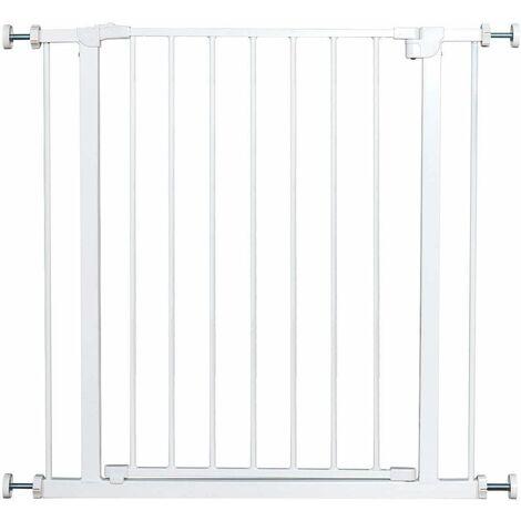 Barrera de Seguridad de Metal para Puerta Escalera sin Perforación Valla Protección para Perros