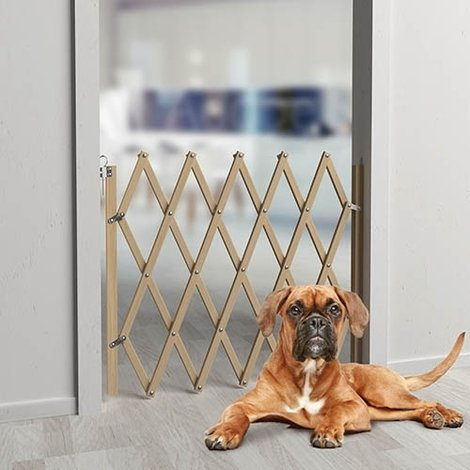 Barrera de seguridad para perros extensible de madera Stopfix