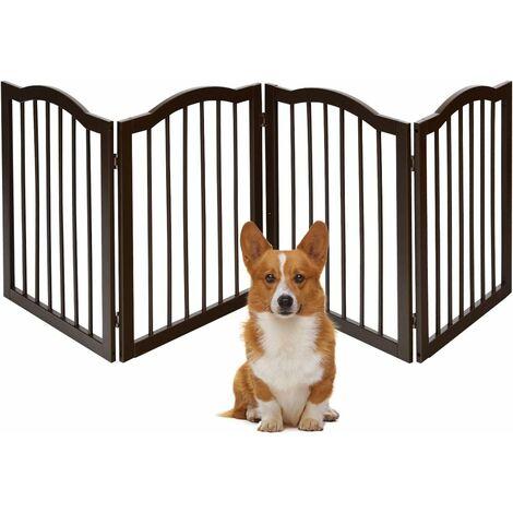 Barrera de Seguridad Plegable para Chimenea 4 Paneles Hecho de Madera Pino Reja Escalable de Protección para Niños Mascotas Divisor de Habitación Puerta Escaleras