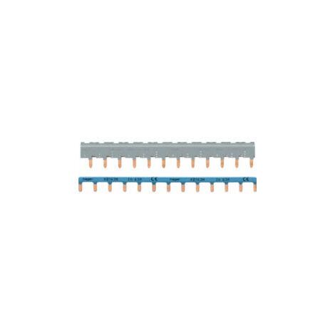Barres de pontage 3P+N de 63A avec languette 12 modules - Gris - KBN863A - Hager