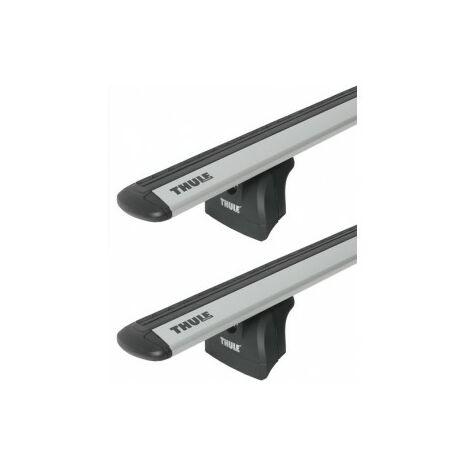 Barres de toit Mazda 3 Coffre (10/03-03/09) Thule WingBar Evo Alu