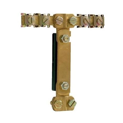 Barrette de coupure équipotentiellecuivre 110X125x25mm pour fil circuit terre principal Ø 6mm à 12mm SIB ADR P04390