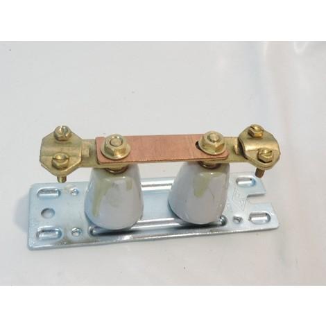 Barrette de coupure porcelaine haute à cosse pour fil terre Ø 12mm max SIB ADR P04388