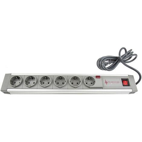 Barrette de distribution, 6 Prises, 250 V c.a.