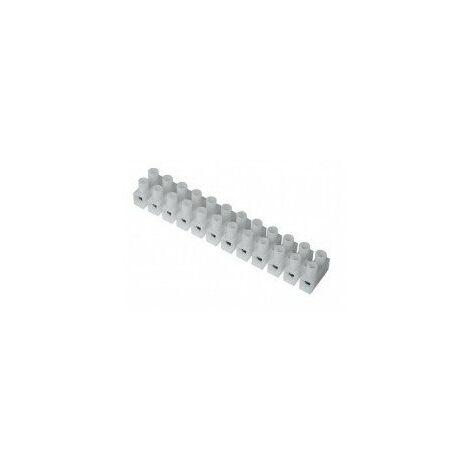 Barrettes de connexion electrique étiquette cavalier - barrette de 12 plots 4 mm²