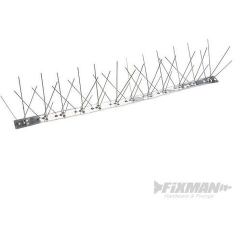 Barrettes de pics métalliques anti-volatiles, 10 pcs, 500 mm (4 pics)