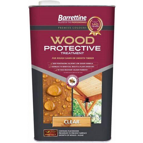 "main image of ""Barrettine Nourish & Protect Wood Protective Treatment Clear 5L"""