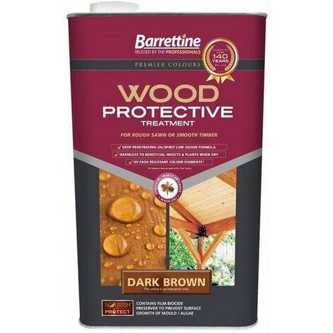 """main image of """"Barrettine Nourish & Protect Wood Protective Treatment Dark Brown 2.5L"""""""
