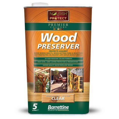 "main image of ""Barrettine Wood Preserver Clear 5L"""