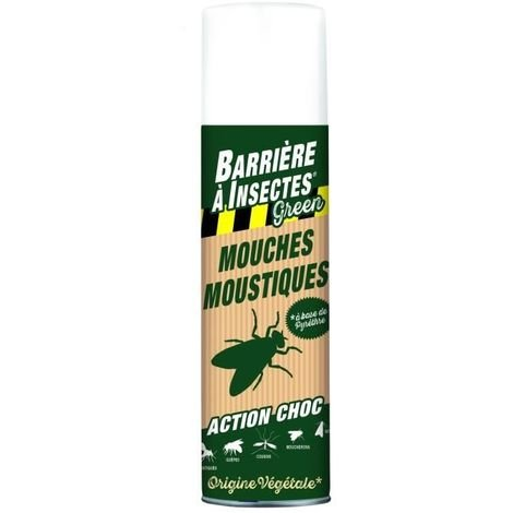 BARRIERE A INSECTES GREEN INSECTICIDES CONTRE INSECTES VOLANTS D'ORIGINE VÉGÉTALE - 400 ML BARBIOVOL400