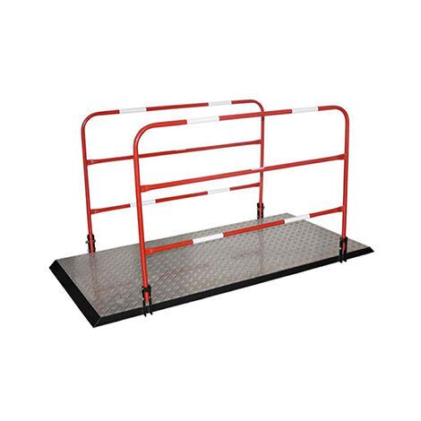 Barrière de chantier et passerelle de tranchée (plusieurs tailles disponibles)