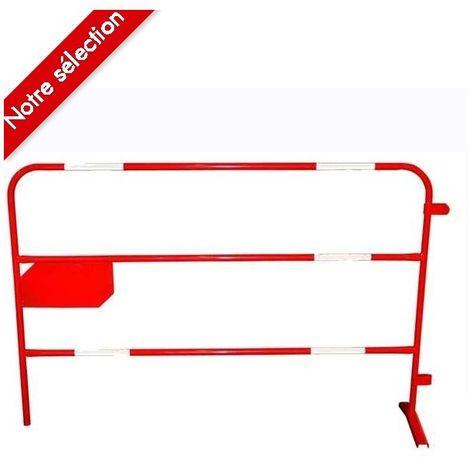 Barrière de chantier rouge Ø 25 mm
