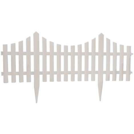 Barrière de jardin blanche 60x32.5cm 4pc