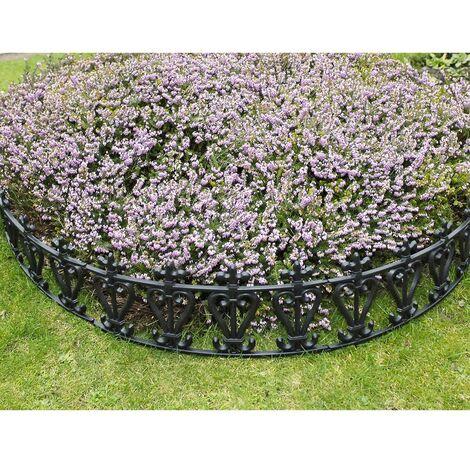 Barrière de jardin forme ronde - lot de 6