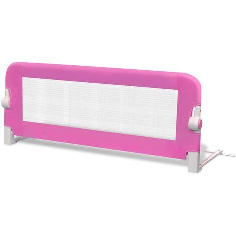 Barrière de lit pour enfants 102 x 42 cm Rose