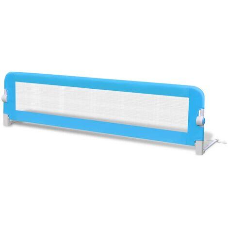 Barrière de lit pour enfants 150 x 42 cm Bleu