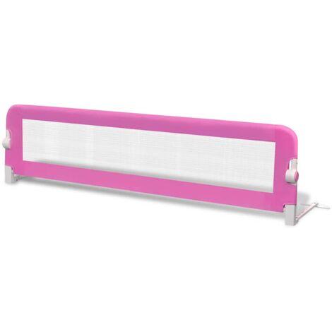 Barrière de lit pour enfants 150 x 42 cm Rose